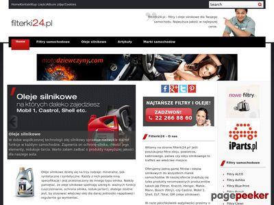 Filterki24.pl - o filtrach samochodowych