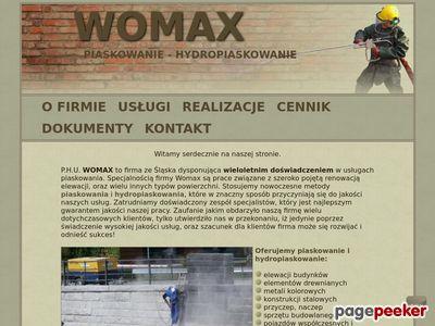 Piaskowanie powierzchni - Womax Częstochowa