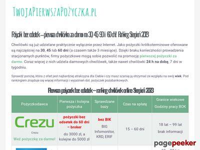 TwojaPierwszaPożyczka.pl - szybkie pożyczki chwilówki