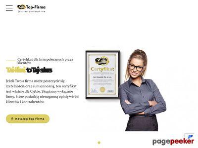 Certyfikat rzetelności - top-firma.pl