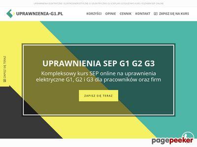 Uprawnienia elektryczne - uprawnienia-g1.pl