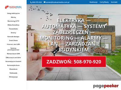 KrakSatMedia - instalacja monitoringu Kraków