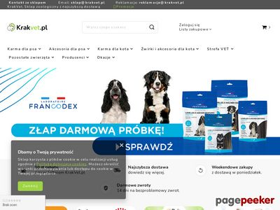 Sklep internetowy krakvet.pl