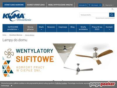 Lampy - sklep internetowy KOMA