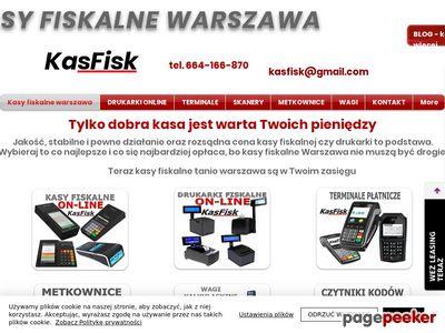 Kasy fiskalne KasFisk online Warszawa