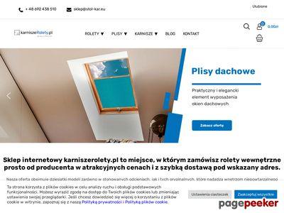 Rolety rzymskie - karniszerolety.pl