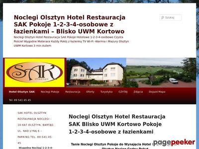 Tanie Noclegi Olsztyn Hotel Restauracja SAK