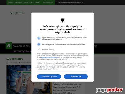 Portal o ZUS Infoliniazus.pl