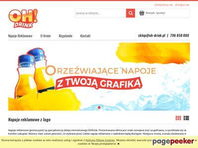 Oh-drink - soki reklamowe