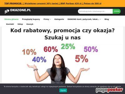 Okazone.pl - Zbiór najlepszych kodów rabatowych do sklepów.