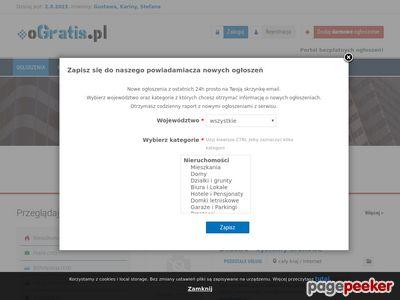 OGratis.pl - serwis ogłoszeń