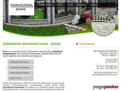 Ogrodzenia betonowe Śląsk