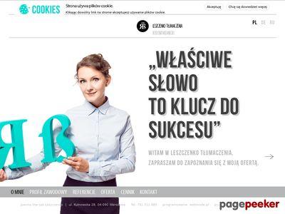 Leszczenko Tłumaczenia: NIEMIECKI, ROSYJKI