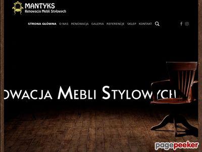 Renowacja Mebli Stylowych Warszawa - MANTYKS.PL
