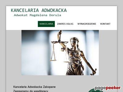 Radca prawny Zakopane - magdalenadorula.pl