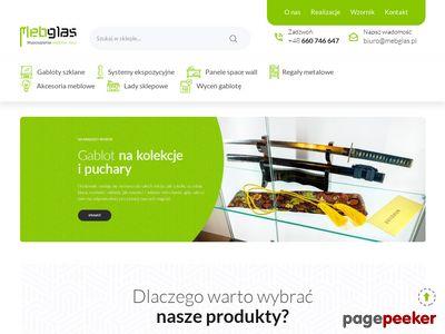 Gabloty ekspozycyjne - mebglas.pl