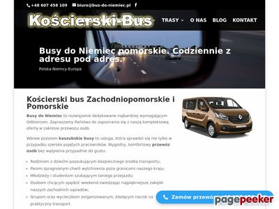 Busy do Niemiec pomorskie z Kościerzyny