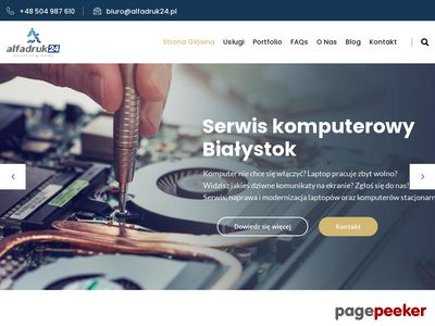 Alfadruk24.pl - serwis komputerowy Białystok