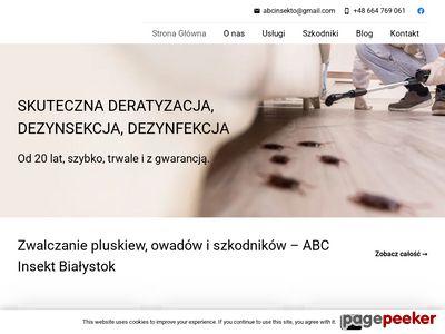 Dezynfekcja Białystok - abcinsekt.pl