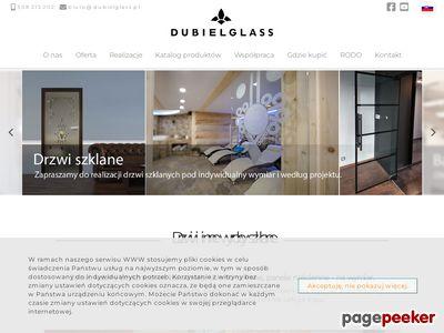 Drzwi wahadłowe szklane : dubielglass.pl