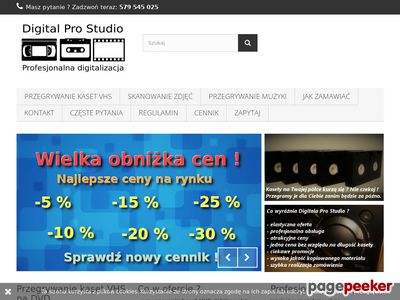 Digitalprostudio.pl - przegrywanie kaset