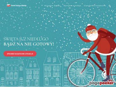 Nowoczesne dekoracje świąteczne na wynajem- Domek Świętego Mikołaja