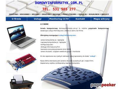 Serwis Laptopów Tworzenie Stron WWW Wiórek Czapury