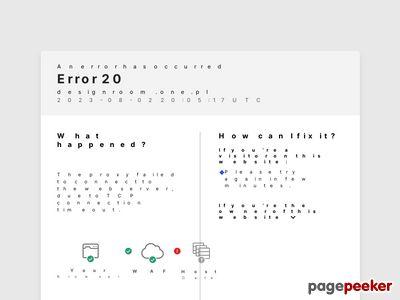 Strona o projektowaniu wnętrz firmy DesignRoom