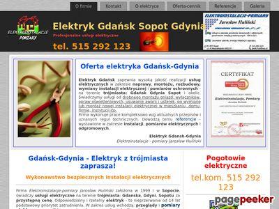 Elektryk instalacje Gdańsk Gdynia Sopot usługi