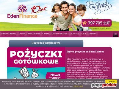 Eden Finance - pożyczka gotówkowa w Twoim domu