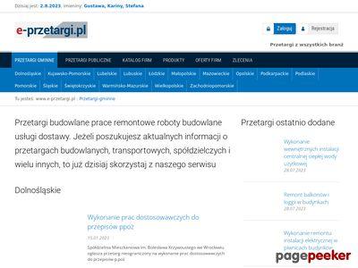 Aktualny przetarg na dostawy - e-przetargi.pl