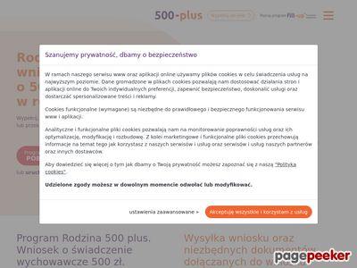 Wniosek 500 plus