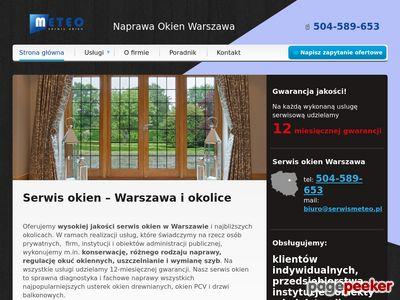 SerwisMeteo.pl Serwis okien, regulacja okien Warszawa