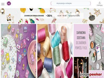 Koraliki, kryształki półprodukty do biżuterii - Manzuko